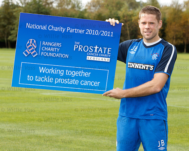Rangers striker James Beattie raising awareness for the Prostate Cancer Charity Scotland, a partner of the Rangers Charity Foundation