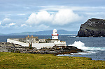 The Valentia Lighthouse, located in the northwest corner of Valentia Island, County Kerry, Ireland