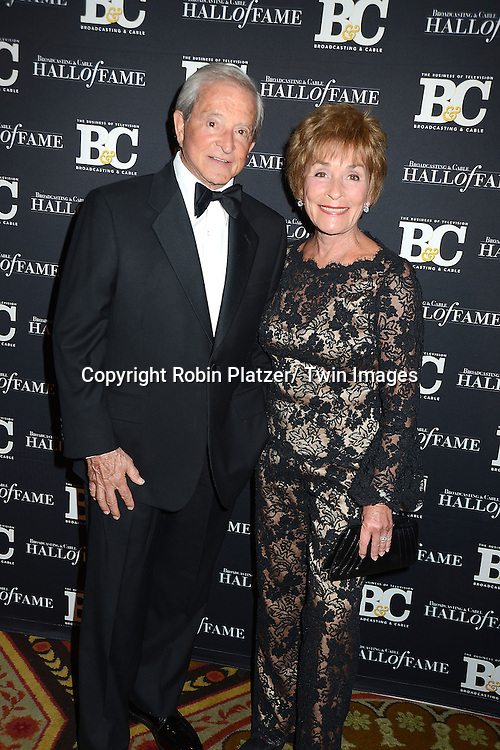 Judge Jerry Scheindlin and Judge Judy Scheindlin attends the Broadcasting and Cable Hall of Fame Awards .on December 17, 2012 at The Waldorf  Astoria Hotel in New York City.