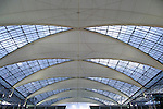 metallic and glass roof structure