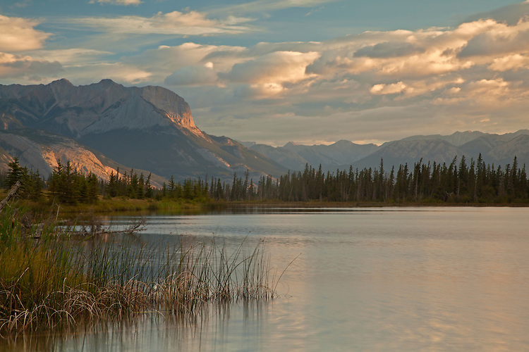 Talbot Lake and the Miette Range in Jasper National Park, ALberta, Canada