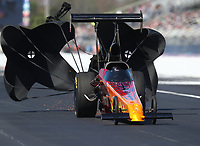 Mar 17, 2017; Gainesville , FL, USA; NHRA top alcohol dragster driver Jerry Powell during qualifying for the Gatornationals at Gainesville Raceway. Mandatory Credit: Mark J. Rebilas-USA TODAY Sports