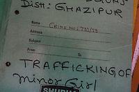 A legal file on a desk in the Guria legal room in Varanasi, Uttar Pradesh, India on 22 November 2013.