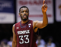 INDIANAPOLIS, IN - JANUARY 26: Scootie Randall #33 of the Temple Owls is seen during the game against the Butler Bulldogs at Hinkle Fieldhouse on January 26, 2013 in Indianapolis, Indiana. (Photo by Michael Hickey/Getty Images) *** Local Caption *** Scootie Randall