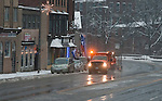 WINSTED,  CT-122916JS12--Winsted saw a small amount of snow fall on Thursday until it changed over to just rain. But as the temperatures drop though the overnight, roads were expected to get icy. <br /> Jim Shannon Republican-American