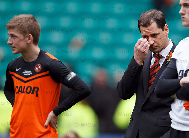 Dejection from Jackie McNamara at the final whistle