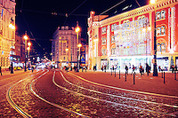 Prague shopping center in Christmas
