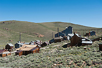 Derelict buildings at Bodie state historic park, California, USA