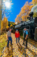 USA-Colorado-Cumbres & Toltec Scenic Railroad-Autumn-People