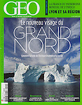&quot;Le Nouvea visage du Grand Nord&quot; - my photograph of an iceberg in Nugatsiaq, Greenland, on the cover of the March 2013 GEO France magazine.<br />