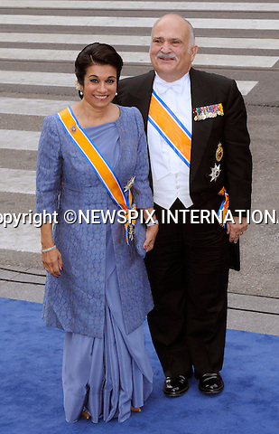 """30.04.2013; Amsterdam: KING WILLEM-ALEXANDER INAUGURATION.PRINCE EL HASSAN BIN TALAL AND PRINCESS SARVATH EL HASSAN OF JORDAN.attend King Willem-Alexander's inauguration at Nieuwe Kerk, Amsterdam, The Netherlands, .Mandatory Credit Photos: ©NEWSPIX INTERNATIONAL..**ALL FEES PAYABLE TO: """"NEWSPIX INTERNATIONAL""""**..PHOTO CREDIT MANDATORY!!: NEWSPIX INTERNATIONAL(Failure to credit will incur a surcharge of 100% of reproduction fees)..IMMEDIATE CONFIRMATION OF USAGE REQUIRED:.Newspix International, 31 Chinnery Hill, Bishop's Stortford, ENGLAND CM23 3PS.Tel:+441279 324672  ; Fax: +441279656877.Mobile:  0777568 1153.e-mail: info@newspixinternational.co.uk"""