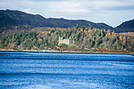 The river Tay, West coast of Scotland.  Salmon farms in and around the lochs have wiped out the native wild Salmon population due to the farm cages attracting sea lice infestations.