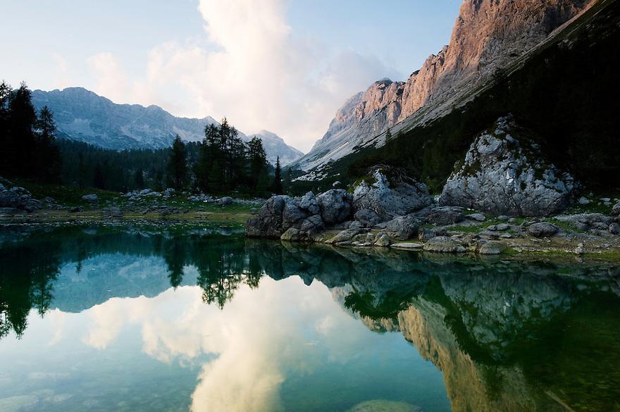 First Double Lake (Dvojno jezero)<br /> Triglav National Park, Slovenia<br /> August 2009