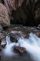 Canyon Creek in Box Canyon. This is a slot canyon that drains Mount Sneffles at Ouray Colorado.