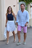 Geri Halliwell ( ex Spice Girls ) &  husband  enjoy their vacation in  Saint-Tropez - EXCLU