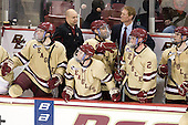 Patrick Wey (BC - 6), John Hegarty (BC - Dir-Hockey Ops), Patch Alber (BC - 3), Tommy Cross (BC - 4), Greg Brown (BC - Assistant Coach), Brian Dumoulin (BC - 2), Chris Kreider (BC - 19) - The Boston College Eagles defeated the University of Vermont Catamounts 4-0 on Saturday, March 3, 2012, at Kelley Rink/Conte Forum in Chestnut Hill, Massachusetts. The two points from the win gave BC the Hockey East regular season championship.