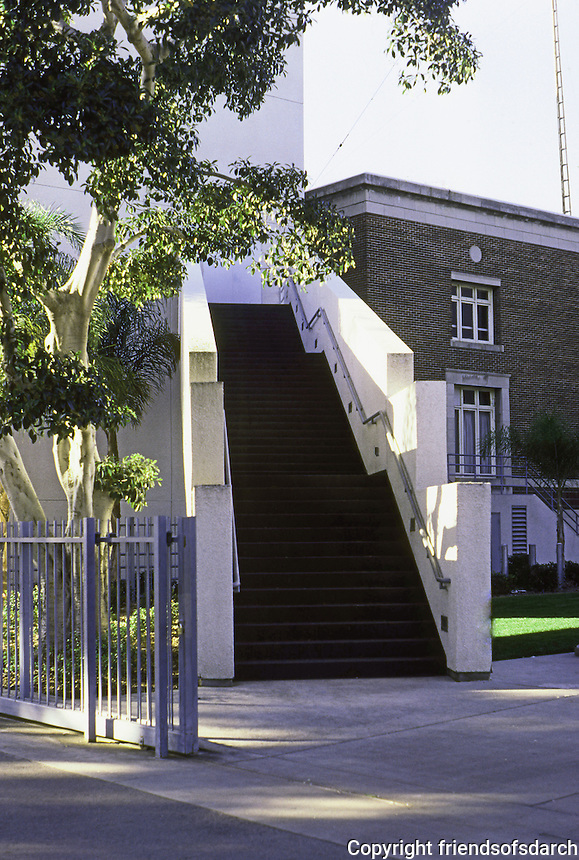 Frank Gehry: Aerospace Museum--Stairs.  Photo '87.