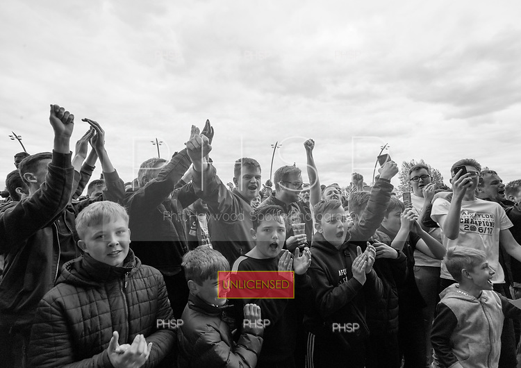 29/04/2017 National League North AFC Fylde v Worcester City<br /> <br /> AFC Fylde supporters celebrate the league title