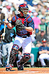 13 March 2010: Atlanta Braves' catcher David Ross in action during a Spring Training game against the Toronto Blue Jays at Champion Stadium in the ESPN Wide World of Sports Complex in Orlando, Florida. The Blue Jays shut out the Braves 3-0 in Grapefruit League action. Mandatory Credit: Ed Wolfstein Photo
