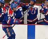 Dmitri Sinitsyn (UML - 21) - The visiting University of Massachusetts Lowell River Hawks defeated the Harvard University Crimson 5-0 on Monday, December 10, 2012, at Bright Hockey Center in Cambridge, Massachusetts.