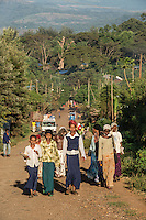 The village of Choche in Jimmu (formerly the capital of the Kaffe region) is shown iN December, 2012. People beleive this is the original birthplace of coffee.