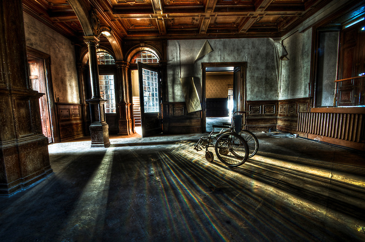 East German gothic stately home interior