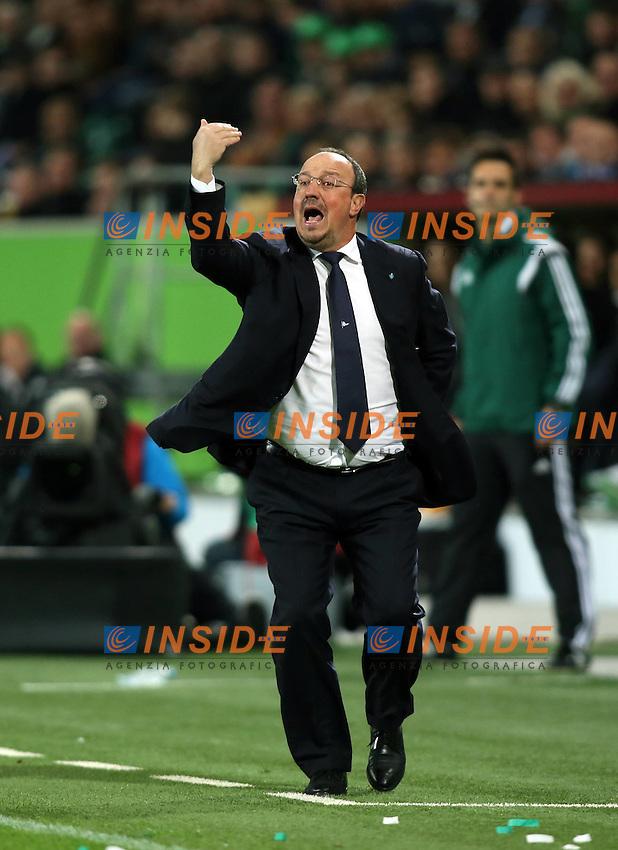 Trainer Rafael Benitez <br /> VfL Wolfsburg SSC Napoli UEFA Europa League Quarter-finals 16 04 2015 Football Football Volkswagen Arena Wolfsburg 2014 2015