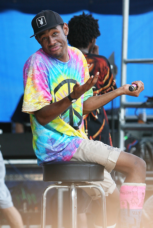 CHICAGO, IL - JULY 17:  Tyler the Creator of Odd Future Wolfgang Kill Them All performs onstage during the 2011 Pitchfork Music Festival in Union Park on July 17, 2011 in Chicago, Illinois.  (Photo by Roger Kisby/Getty Images)