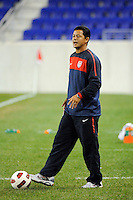 USA U-17 head coach Wilmer Cabrera. The USMNT U-17 defeated New York Red Bulls U-18 4-1 during a friendly at Red Bull Arena in Harrison, NJ, on October 09, 2010.