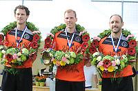 KAATSEN: SINT JACOB: 19-06-2016, Heren Hoofdklasse Vrije formatie winnaar werden Gert-Anne van der Bos, Taeke Triemstra en Daniël Iseger, ©foto Martin de Jong