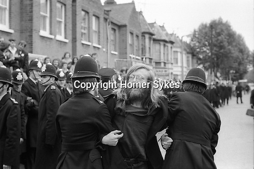 Grunwick Strike North London UK. Striker being arrested.