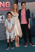 Kim Raver + sons Luke + Leo @ the Los Angeles premiere of 'Kong: Skull Island' held @ the Dolby theatre.<br /> March 8, 2017 , Hollywood, USA. # PREMIERE DU FILM 'KONG : SKULL ISLAND' A LOS ANGELES