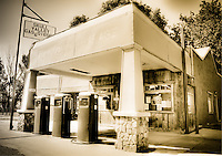 Skull Valley Garage - Arizona (Sepia) Gas Station