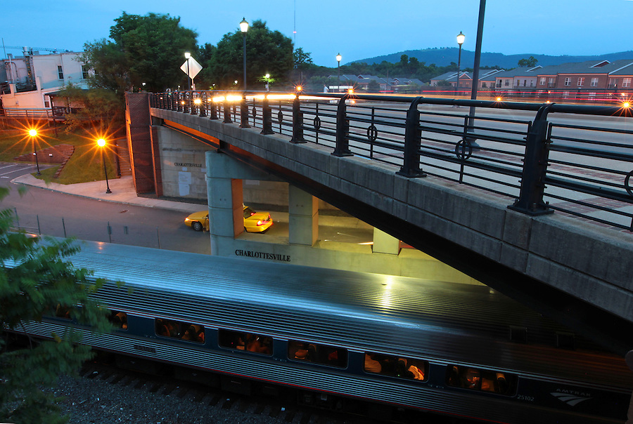 The Drewery J. Brown Memorial Bridge on West Main Street photographed June 9, 2014 in Charlottesville, VA. Photo/Andrew Shurtleff
