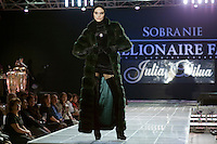 Moscow, Russia, 24/10/2009..A fashion show at the Millionaire Fair in Moscow. The event has become an annual fixture, attracting thousands of would-be and existing Russian millionaires to view and purchase a wide range of luxury goods. This year however the fair was much smaller, an indication of how the formerly booming Russian economy has been hit by the world financial crisis.