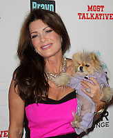 Lisa Vanderpump, Giggy.Bravo's Andy Cohen's Book Release Party For &quot;Most Talkative: Stories From The Front Lines Of Pop Held at SUR Lounge, West Hollywood, California, USA..May 14th, 2012.half length black pink dress dog nimal.CAP/ADM/KB.&copy;Kevan Brooks/AdMedia/Capital Pictures.