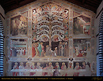 Last Supper Tree of Life and Four Miracle Scenes Taddeo Gaddi 1335 Santa Croce Florence