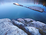 Nature scenery of rocks in lake George. Killarney Provincial Park, Ontario, Canada