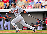 15 March 2009: Detroit Tigers' outfielder Wilkin Ramirez in action during a Spring Training game against the Washington Nationals at Space Coast Stadium in Viera, Florida. The Tigers shut out the Nationals 3-0 in the Grapefruit League matchup. Mandatory Photo Credit: Ed Wolfstein Photo