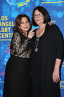 WEST HOLLYWOOD, CA - SEPTEMBER 24: Mo Gaffney, Kathy Najimy attends the Los Angeles LGBT Center's 47th Anniversary Gala Vanguard Awards at Pacific Design Center on September 24, 2016 in West Hollywood, California. (Credit: Parisa Afsahi/MediaPunch).