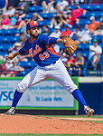 8 March 2015: New York Mets pitcher Gabriel Ynoa on the mound during Spring Training action against the Boston Red Sox at Tradition Field in Port St. Lucie, Florida. The Mets fell to the Red Sox 6-3 in Grapefruit League play. Mandatory Credit: Ed Wolfstein Photo *** RAW (NEF) Image File Available ***