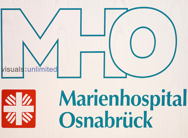 Official logo of Marien Hospital, Osnabruck, Germany. Royalty Free