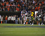 Ole Miss' Tyler Campbell (97) punts vs. Auburn at Jordan-Hare Stadium in Auburn, Ala. on Saturday, October 29, 2011. .