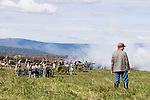 Civil War renactors recreate the Battle of Berryville, which took place 1/2 mile east of Berryville, Virginia on September 3-4, 1864 between Federal and Confederate soldiers. Leading 2400 soldiers, the Federals were strongly outnumbered, pitted against General Kershaw's Confederate division of 3,500.  Federal casualties were more than double Confederate casualties.