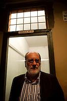 Roma 28 Maggio 2010.Museo Storico della Liberazione .Via Tasso 155,  era il Comando SS e Gestapo, della polizia Nazista  durante l'occupazione da parte delle  Germania durante la Seconda Guerra Mondiale..Antonio Parisella, Presidente del museo di via Tasso.Rome, May 28, 2010.Historical Museum of the Liberation.Via Tasso 155, was the SS and Gestapo Command, the police during the Nazi occupation by Germany during the Second World War..Antonio Parisella, President of the museum on Via Tasso