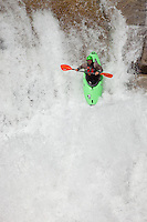 """Kayaker on Silver Creek 24"" - This kayaker was photographed on Silver Creek - South Fork, near Icehouse Reservoir, CA."