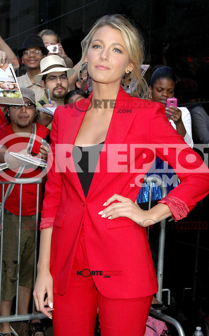 June 27, 2012 Blake Lively at Good Morning America in New York City to talk about her new movie Savages. &copy; RW/MediaPunch Inc. /**NORTEPHOTO:COM**<br />