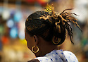 African woman on a local market, Kigali, Rwanda