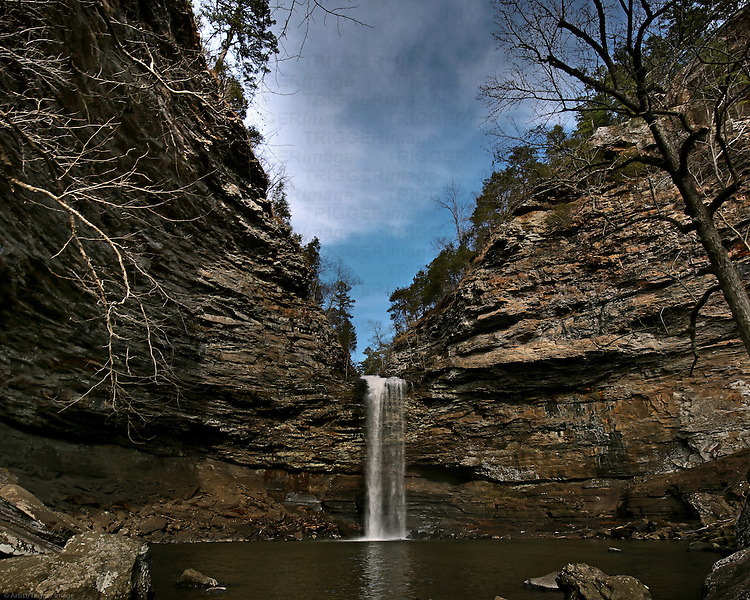 A waterfall form a local State Park.  It is a 95 foot fall that takes a little bit of a hike to get to.
