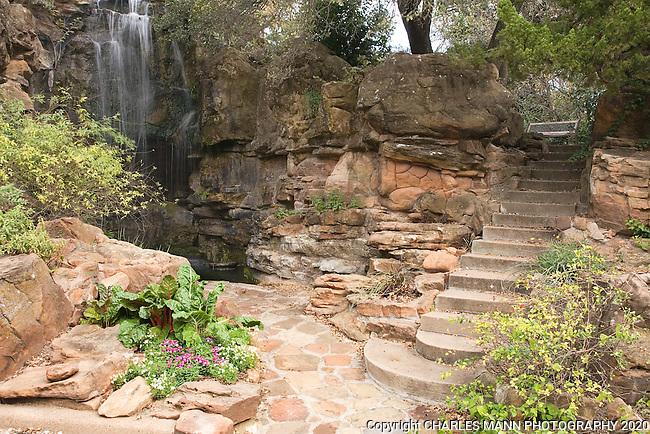 Douglas Chandor Garden Cox 39 S Mountan Waterfall And Steps Weatherford Texas Mann Mg
